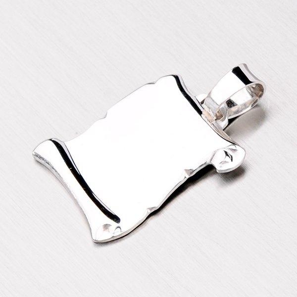 Stříbrný přívěsek - pergamen YNG3039