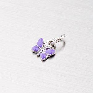 Stříbrný přívěsek - fialový motýl M570916SM-F