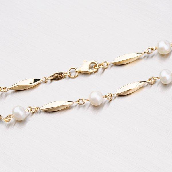 Zlatý řetízek s perlami 45-1711
