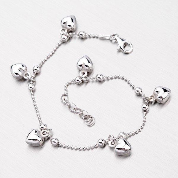 Stříbrný náramek se srdíčky YNG4020