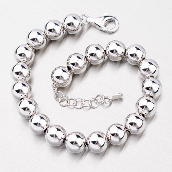 Stříbrný náramek s kuličkami YNG4014