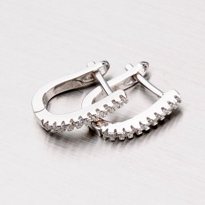 Náušnice se zirkony ze stříbra EXX09160032