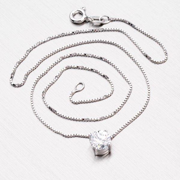 Stříbrný náhrdelník se zirkonem YNG5028