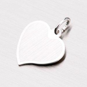 Stříbrný přívěsek ve tvaru srdce LCB-010-TPZG