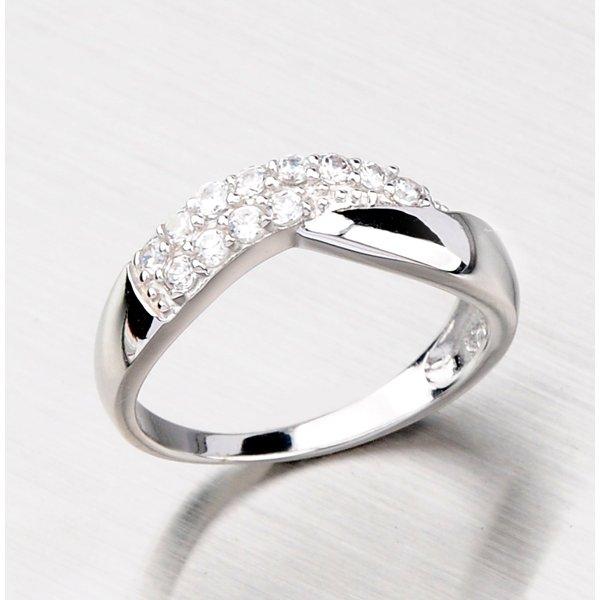 Prsten se zirkony ze stříbra SR40730101
