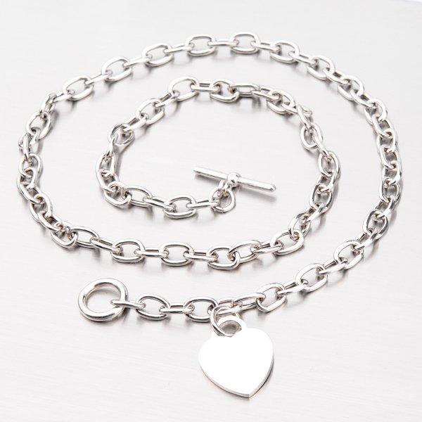 Stříbrný náhrdelník se srdcem YNG5025