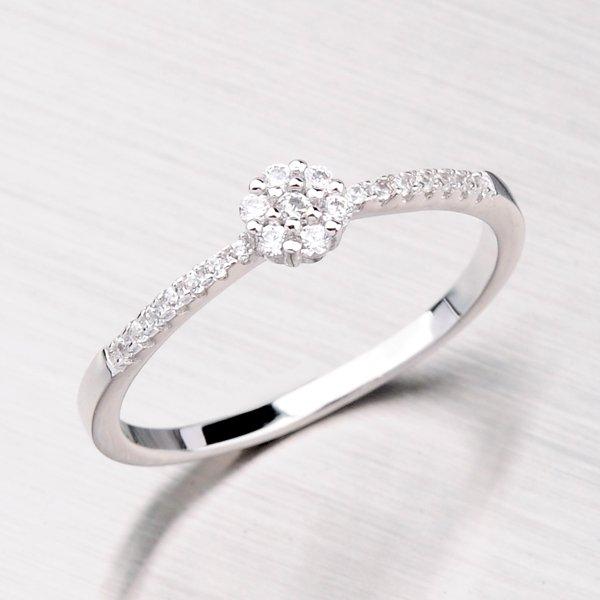 Prsten se zirkony ze stříbra RXE09160018