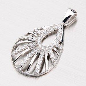 Stříbrný přívěsek ve tvaru slzy ZS-006P-OKS
