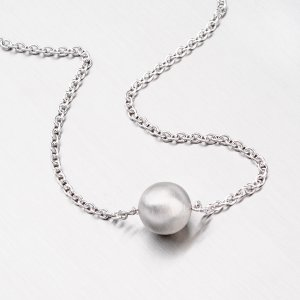 Stříbrný náhrdelník s kuličkou MCL1736BD14