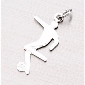 Stříbrný přívěsek - fotbalista NNA-002-TPZG