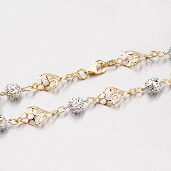 Zdobený zlatý řetízek 45-1591