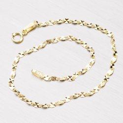 Zlatý náramek s gravírováním 44-1058