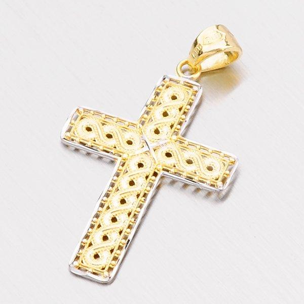 Zlatý přívěsek - kříž 142-0656