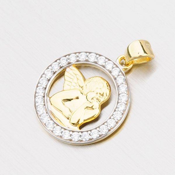 Zlatý přívěsek s andělíčkem 142-0691