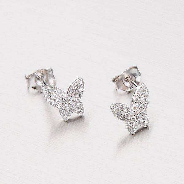Stříbrné náušnice motýlky EXX07150223