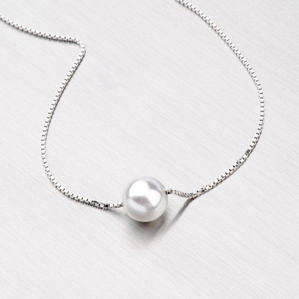 Stříbrný náhrdelník s perlou YNG5030