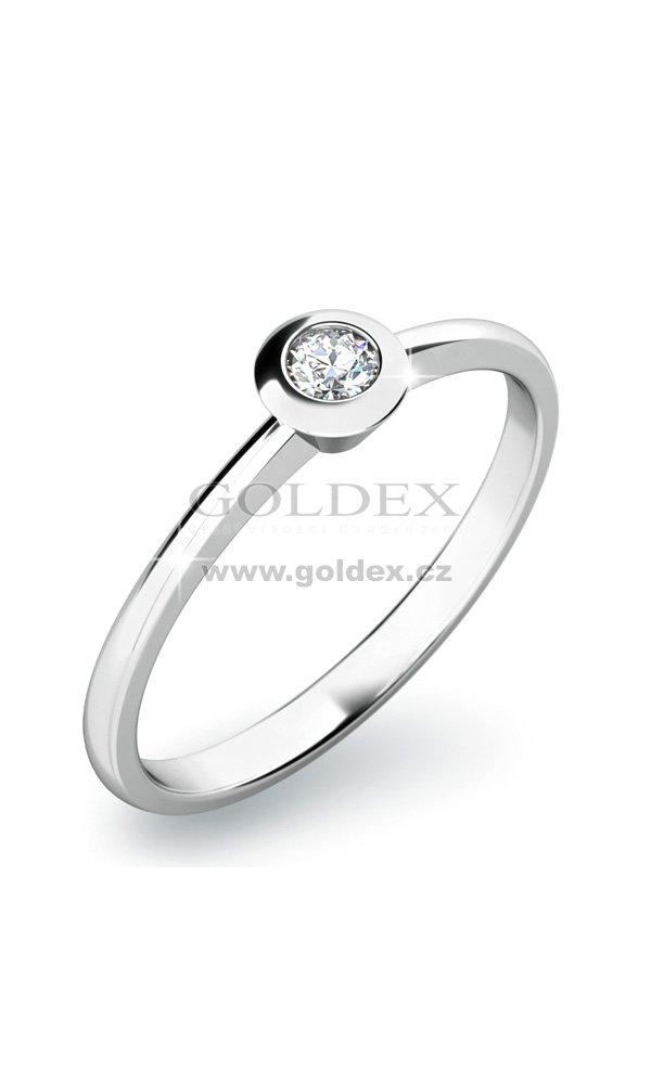 Zasnubni Prsten Se Zirkonem Zp 10807 Goldex Cz