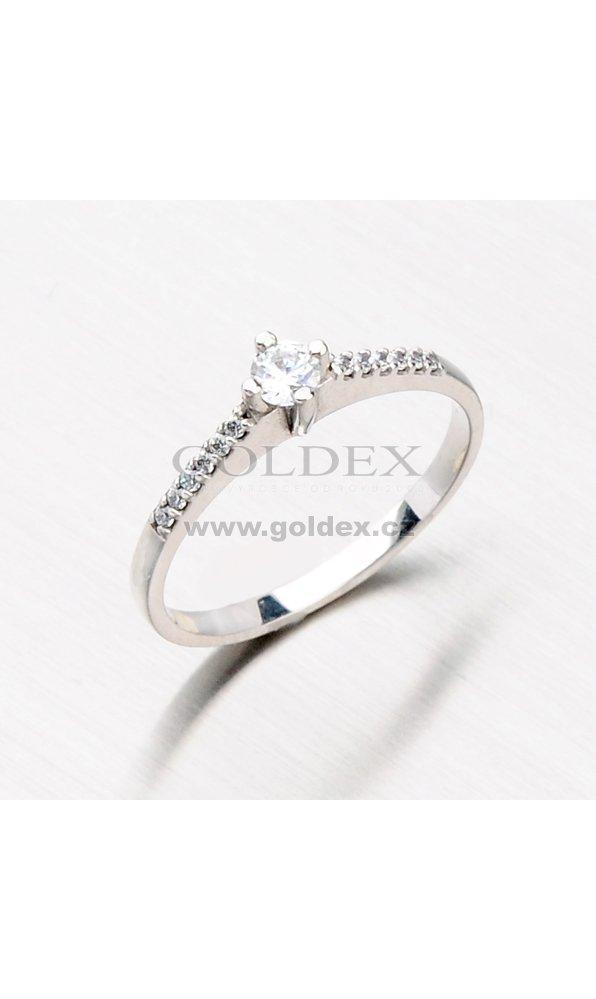 40ccb07b9 Prsten z bílého zlata se zirkony 356-0223 : Goldex.cz