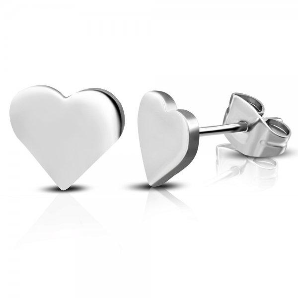 Náušnice ve tvaru srdce GZEM111