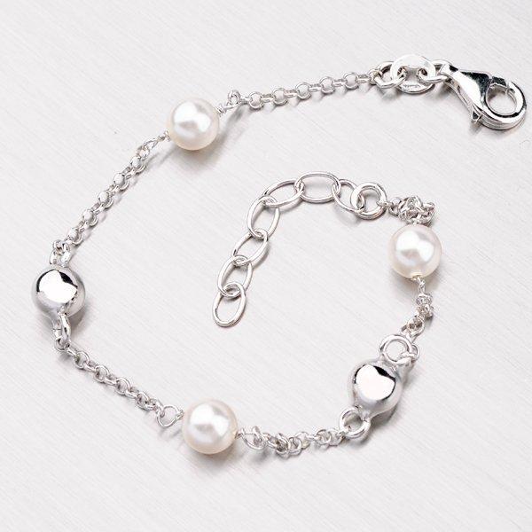 Stříbrný náramek s perlami YNG4055