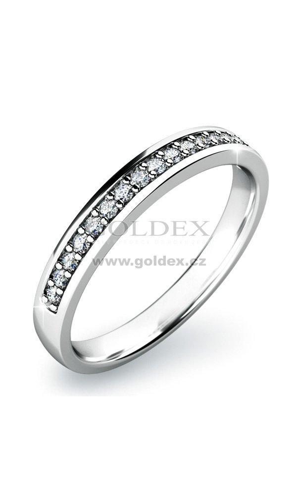 bebc1f5d2 Zásnubní prsten s diamanty ZP-10813D : Goldex.cz