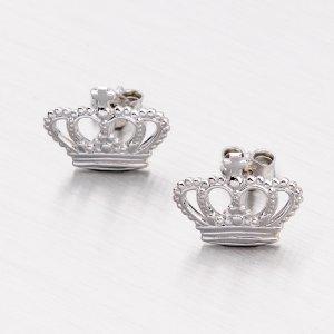 Stříbrné náušnice - korunky E1601349-0532-SLX