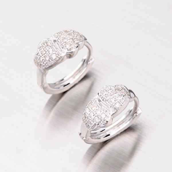 Stříbrné kruhy se zirkony EXX02130106