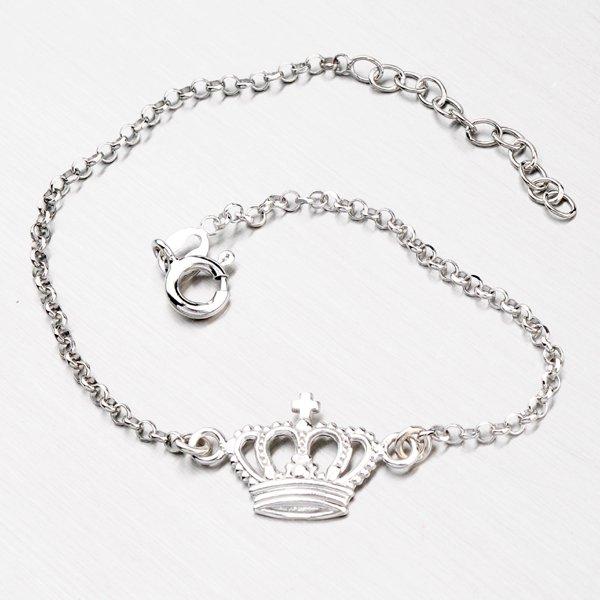 Stříbrný náramek s korunkou B1600957-0532-SLX