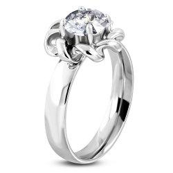 Prsten se zirkonem z oceli GNRE087
