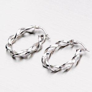 Stříbrné náušnice kruhy XXTE209375-RD