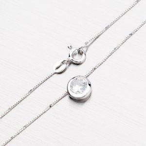 Stříbrný náhrdelník se zirkonem N1400009-0871-SLX