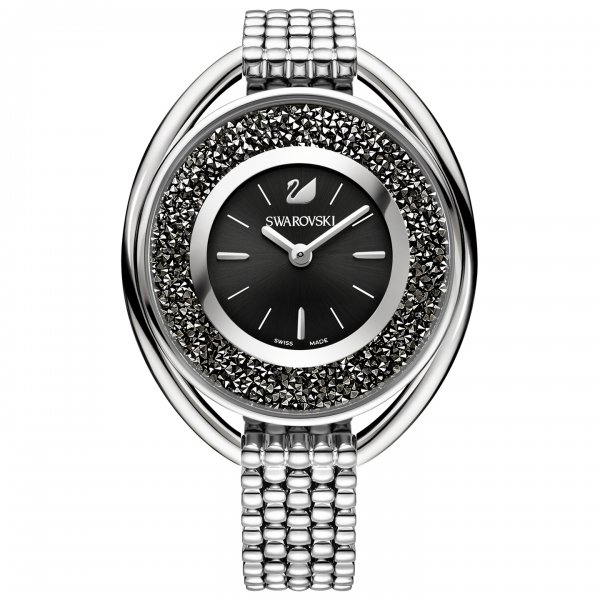 Swarovski Crystalline Oval Black Bracelet Watch 5181664