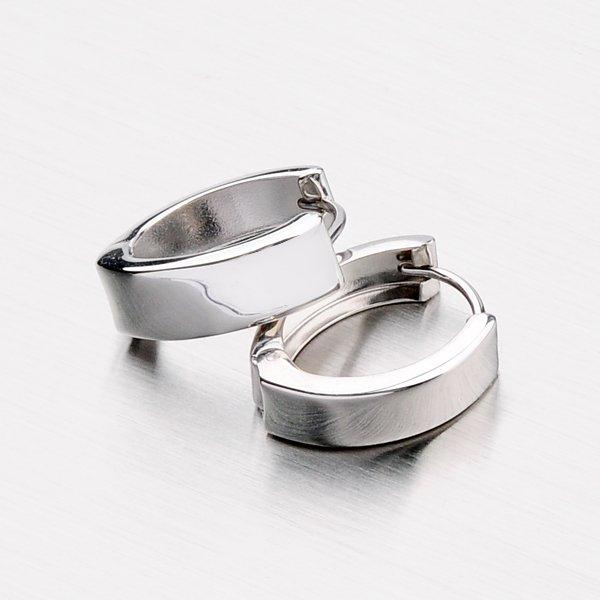 Stříbrné leské kruhy X5SH2-10000-RD