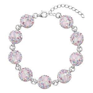 Stříbrný náramek se Swarovski krystaly růžový 33048.3 magic rose 33048.3 MAGIC ROSE