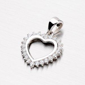 Stříbrné srdce se zirkony X6AALP2985-RD-FCZ