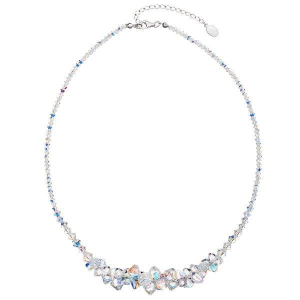 Stříbrný náhrdelník s krystaly Swarovski AB efekt hrozen 32028.2 32028.2 KRYSTAL AB