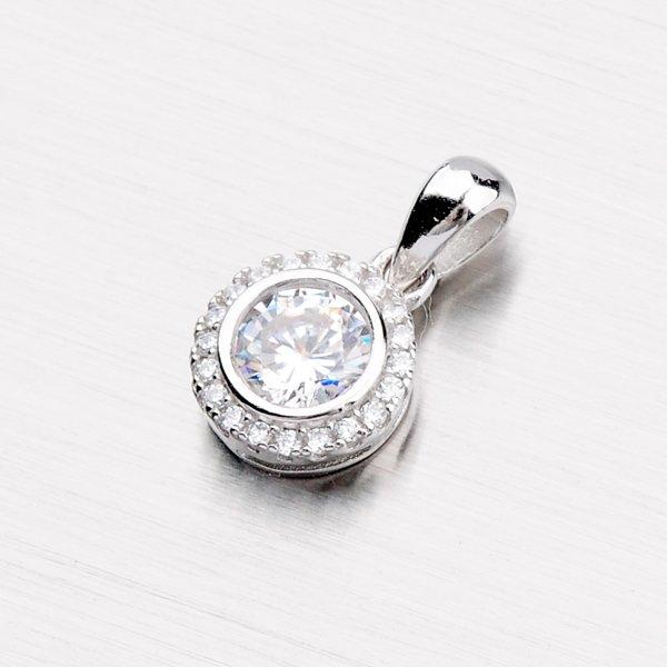 Stříbrný přívěsek se zirkony P1601750-1905-SLX