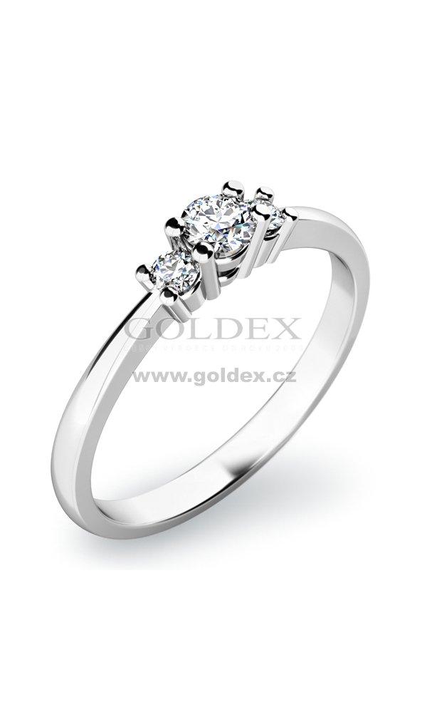 Zasnubni Prsten S Diamanty Zp 10843d Goldex Cz