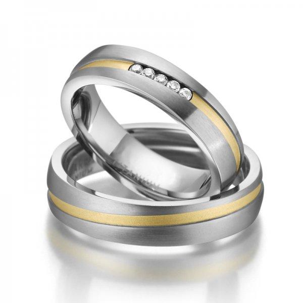 Titanové snubní prsteny SP-TI-017