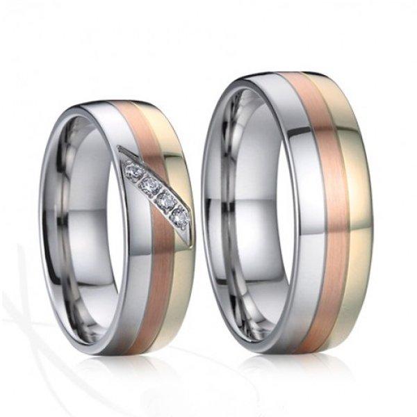 SP-7027 Ocelové snubní prsteny SP-7027