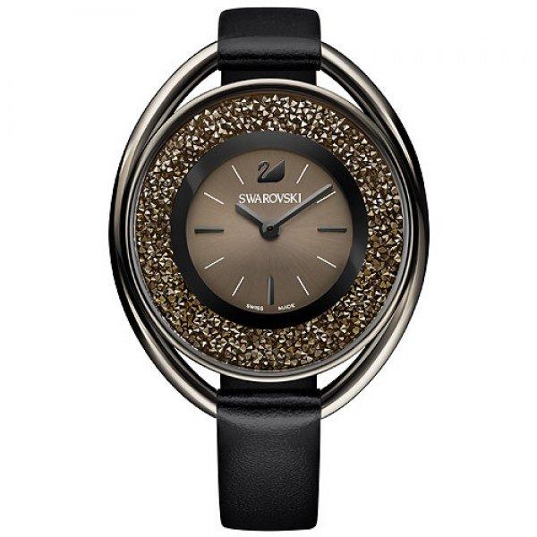 Crystalline Oval Black Tone Watch 5158517