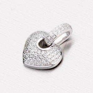 Stříbrné srdce se zirkony P1503902-2252-SLX