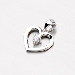 Stříbrné srdce VXAALP1150-RD-FCZ