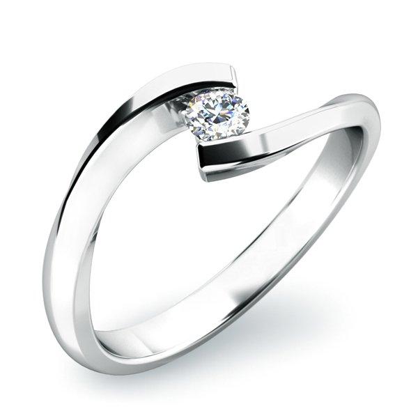 Zásnubní prsten s diamantem ZP-10818D
