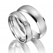 Ocelové snubní prsteny se zirkonem SP-ES-13