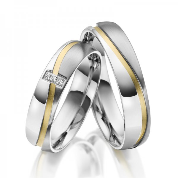 Ocelové snubní prsteny SP-ES-015