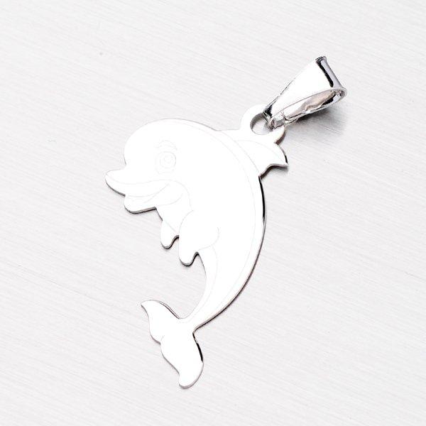 Přívěsek ve tvaru delfína ze stříbra P1400193-1507