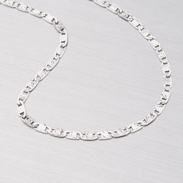 Plošky z bílého zlata 309-0156