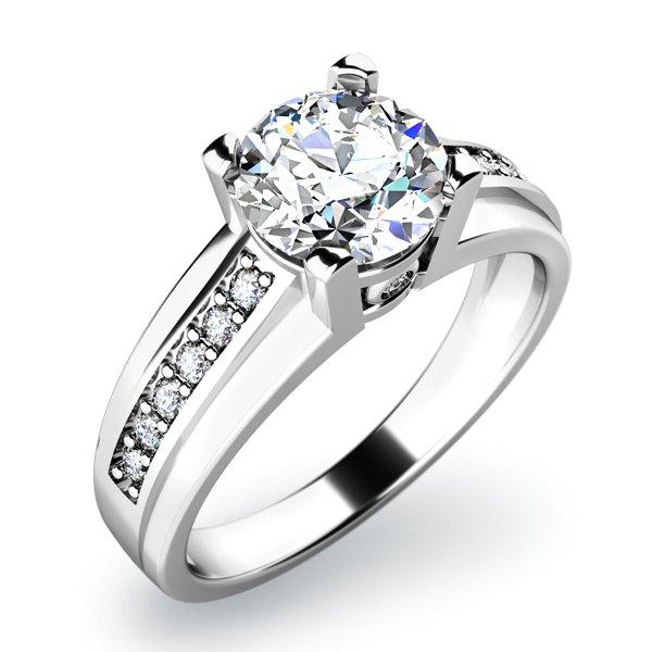 Zásnubní prsten s diamanty ZP-10816D