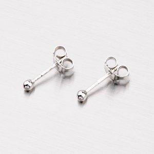 Stříbrné náušnice - pecky s kuličkami M6041D25